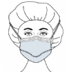 Surgical Mask Fog Shield® Anti-fog Foam Pleated Tie Closure One Size Fits Most Blue NonSterile (Level 1)