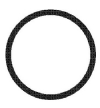 Dci #2202 - O-Ring for Adaptor, Buna-n - (.250 x .032) (Pkg-12 ea)