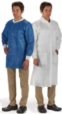 Lab Coat LabMates® White X-Large Knee Length Disposable (10 PACK)