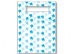 Scatter Bag - Blue Teeth Clear 7x10 (100)