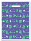 Scatter Bag - Blu/Grn Brsh Floss Clear 7x10 (100)