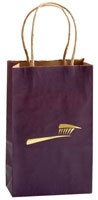 Bags - Paper Purple w/Gold Brush Matte (100)