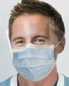GCIPWB Blue Isofluid FogFree™ Earloop Mask w/ Shield Level 1 (25bx) Please note: Masks are non returnable
