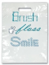 Bags - 2 Color Brush Floss Smile Large 9x13 (100)