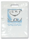 Bags - 2 Color Tooth Smile Large 9x13 (100)
