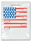 Bags - 2 Color American Flag Large 9x13 (100)