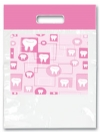 Bags - 2 Color Pink Tooth Large 9x13 (100)
