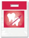 Bags - 2 Color Red Tooth & Brush Large 9x13 (100)