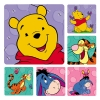 Stickers - Pooh & Friends Asst 2.5x2.5  (100pk)