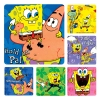 Stickers - SpongeBob Asst 2.5x2.5  (100pk) WILL SHIP MID FEBRUARY