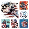 Stickers -  (100pk) Captain America