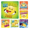Stickers -  HEALTH EMOTICON Stickers  (100pk)