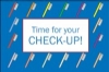 Recall Card - Time For Check-Up Laser 4-Up (200)
