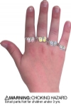 Rings - Childrens Butterfly Assorted (36)