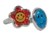 Rings - Plastic Smiley Assorted (72)