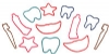 Toys - Bands Dental Shapes Assorted (144)