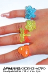 Rings - Childrens Glitter Spring Assorted (144)