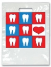 Bags - 2 Color Hearts & Teeth Small 7.5x9 (100)
