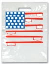 Bags - 2 Color American Flag Small 7.5x9 (100)