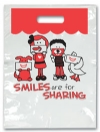 Bags - 2 Color Share Smile Small 7.5x9 (100)