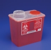 Monoject Sharps Containers  8Qt Chimney-Top Container, Red, Medium