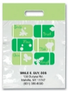 Bags - 2 Color Green Sayings Imprint 9x13 (500)