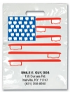 Bags - 2 Color American Flag Imprnt 7.5x9 (500)