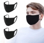 Washable Cloth Face mask, Black (3Pk)  - House brand