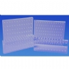 Bur Blocks With Boxes - Clear Plexiglass - 100 Hole