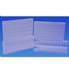 Bur Blocks With Boxes - Clear Plexiglass - 36 Hole