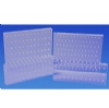 Bur Blocks With Boxes - Clear Plexiglass - 50 Hole