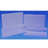 Bur Blocks With Boxes - Clear Plexiglass - 72 Hole